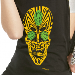 Beer sugar skull tank top
