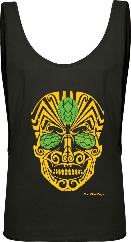 84fe623f4dc54 Beer Sugar Skull Tank Top - Women s Beer T-shirt - GoodBeer®