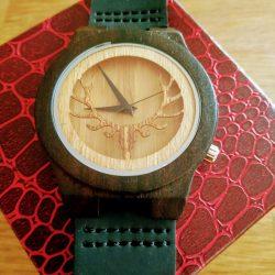 Houten Horloge Sandel en Bamboo