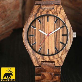 zebra bamboo wooden watch