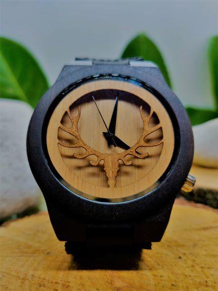 Wooden-watch-bamboo-deer